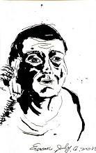 Photo: 錯厄2011.07.04鋼筆 看老人犯這一臉錯厄,電話那頭說的話無論好壞,一定遠遠超過他的預期…
