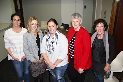 NEW COMMITTEE: The Wee Waa Show Society has a new-look executive for 2017-18, secretary Jana Collier, vice-president Susanne Kable, president Peta Miguel, vice-president Sue Toop and publicity officer Janelle Schwager at the annual meeting on Thursday night. Absent from the photo was treasurer Annie Miguel.