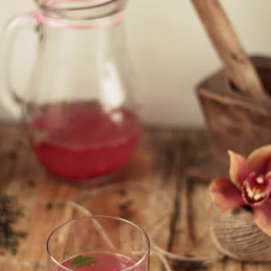 Raspberry and Mint Drink