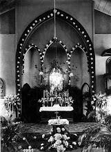 Photo: Interior da Igreja da Confissão Luterana. Coro e altar. Foto de 1931