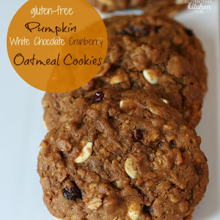 Pumpkin White Chocolate Cranberry Oatmeal Cookies