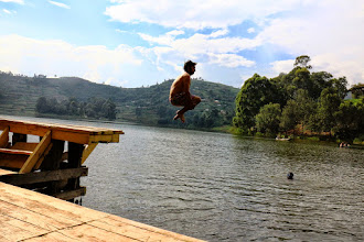 Photo: Jumping in the lake