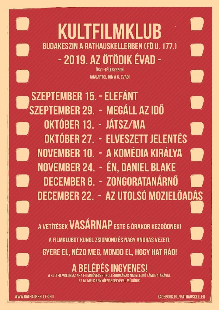 KultFilmklub - 5. évad - ősz