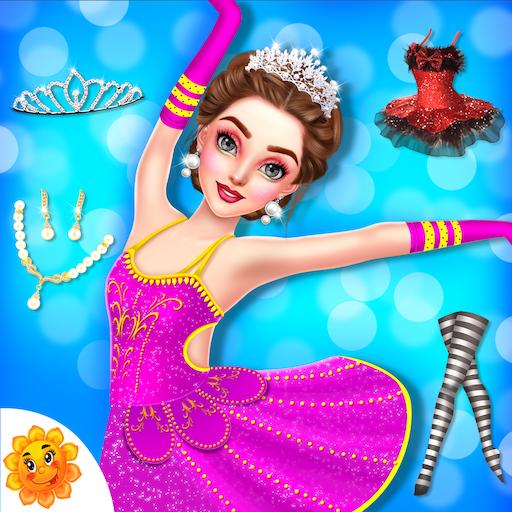Beautiful Ballerina Girl Salon Stylish Dressup