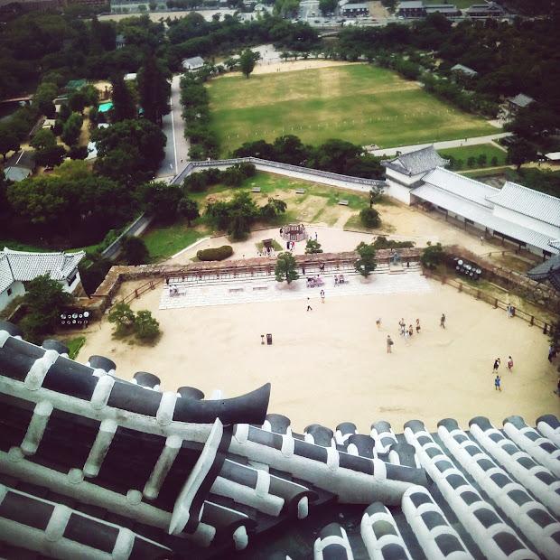 prise de vue depuis le dernier etage du chateau de Himeji