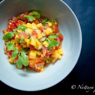 Homemade Mango Salsa.