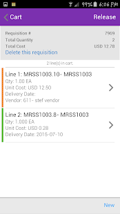 Infor Lawson Requisitions- screenshot thumbnail