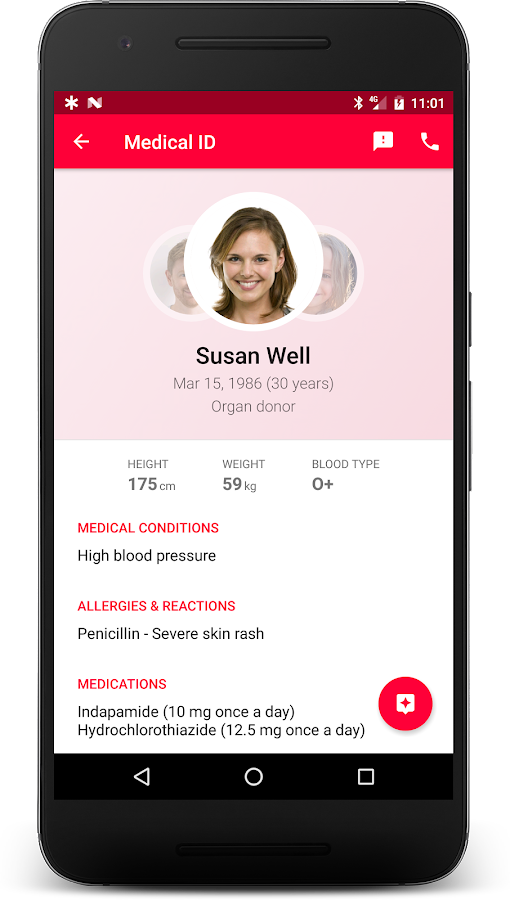 Medical ID (Free) ICE contacts- screenshot