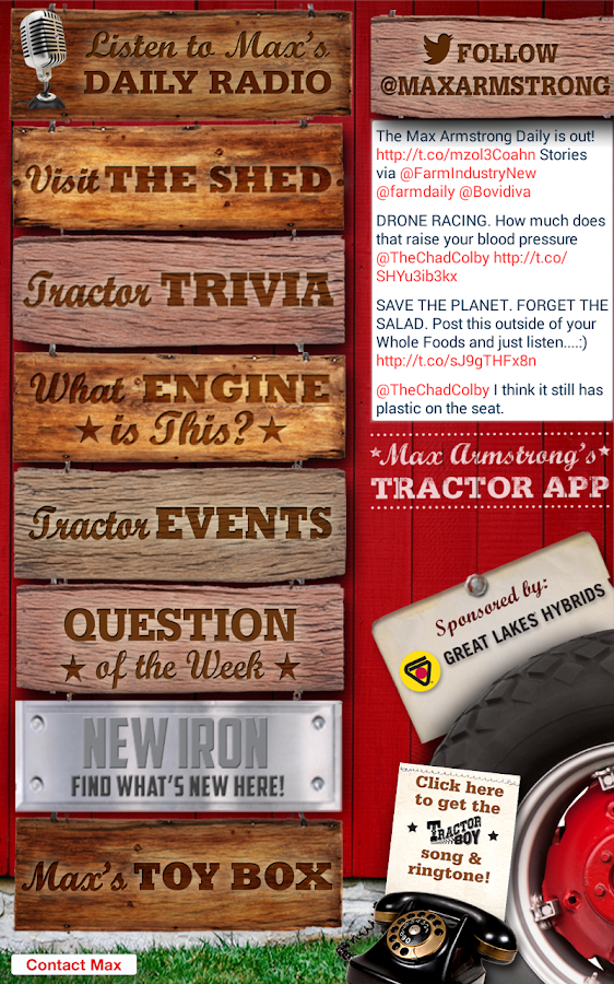 Max Armstrong's Tractor App- screenshot