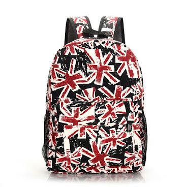 英國米字款式背包