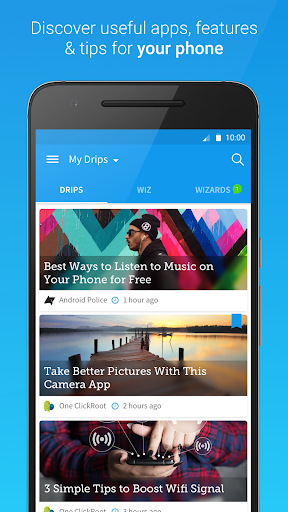 Drippler - Android Tips & Apps screenshot 1