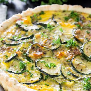 Cheesy Zucchini Quiche.