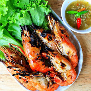 Grilled Thai Garlic Shrimp.