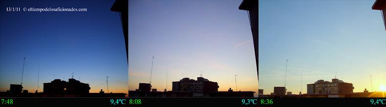 Photo: Amanecer del día 13/01/11