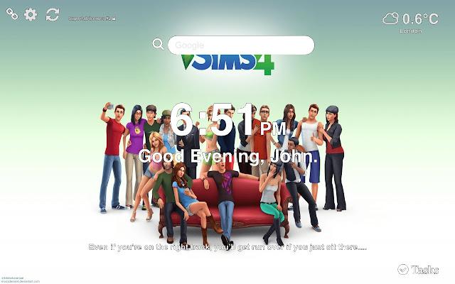 Sims 4 HD Wallpaper NEW Tab Theme