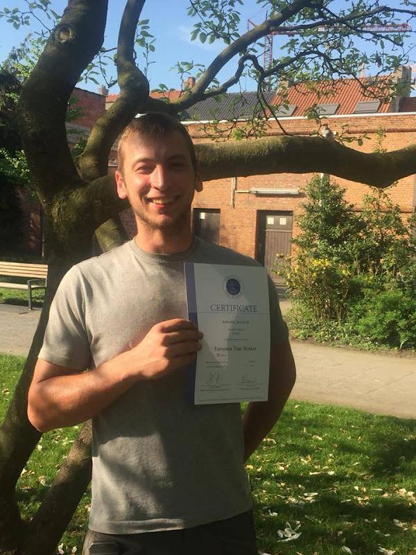 Ook Rob is nu erkend European Treeworker!