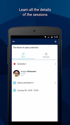 Screenshot for Acronis Events in United States Play Store