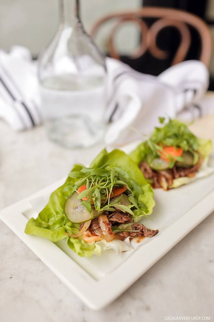 Rib-Eye Lettuce Wraps at the Hake La Jolla (Best Restaurants in La Jolla).