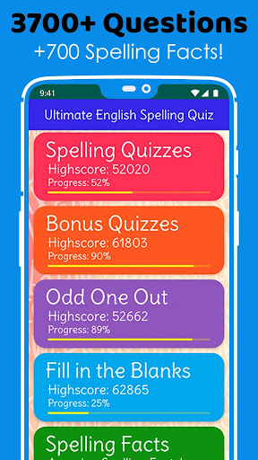 Ultimate English Spelling Quiz : New 2020 Version android2mod screenshots 2