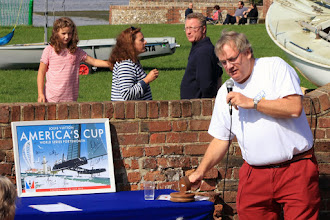 Photo: An auction at Bosham Sailing Club for various items including some dinghies, and a framed pister of the America's Cup signed by the BAR team which fetched £500 for the Andrew Simpson Sailing Foundation.