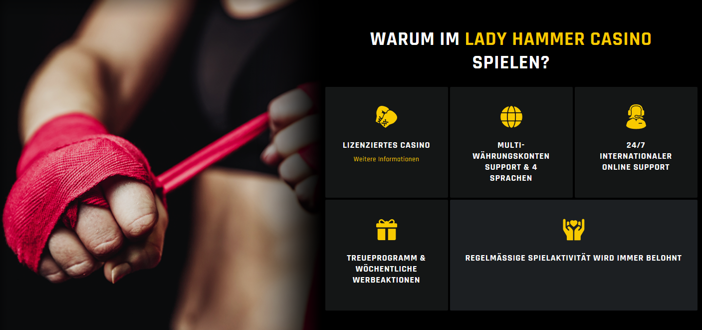 Lady Hammer serious - ernsthaft ein Casino für ein zuverlässiges Spiel.