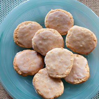 Almond Shortbread Cookies with Blood Orange Glaze
