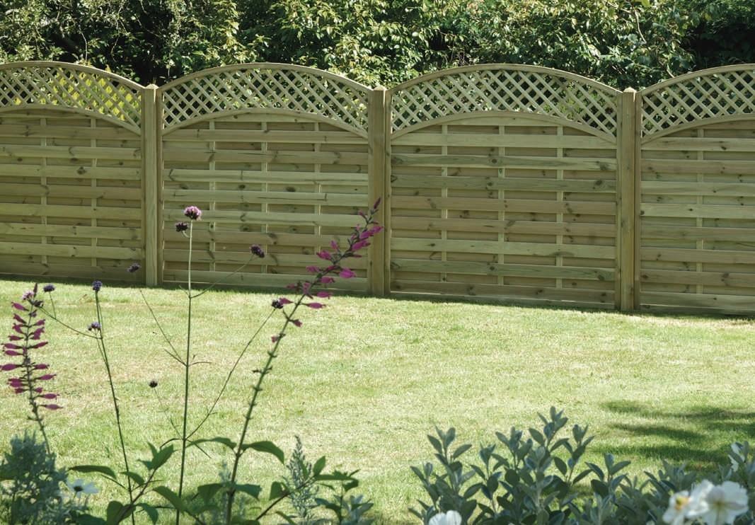 Garden Fencing with Lattice