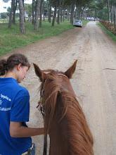 Photo: ... während ich auf Paolos Pferd spazieren geführt werde.