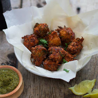 Courgette and Onion Pakora