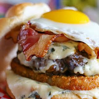 Blue Cheese Breakfast Burger.