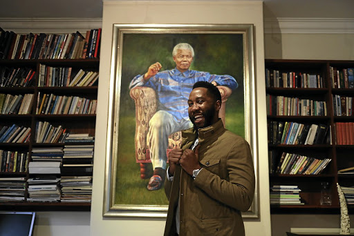 Ndaba Mandela's new book, ' Going to the Mountain: Lessons from my Grandfather, Nelson Mandela', relates the relationship between the world icon and his grandson Ndaba./ ALON SKUY