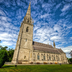 The Marble Church by Mike Shields - Buildings & Architecture Places of Worship ( marble, north wales, sky, church, grass, bodelwyddan )