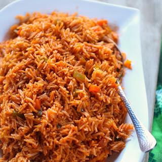 veggie jollof rice Cameroon.