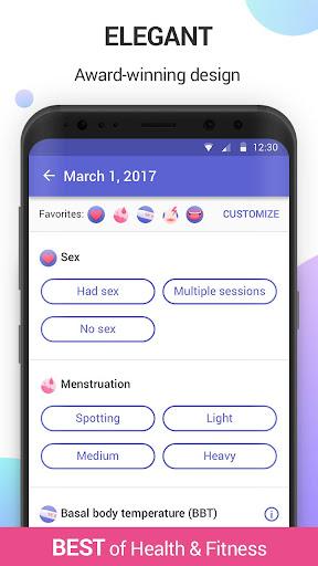 Glow Period & Ovulation Tracker, Fertility App Screenshot