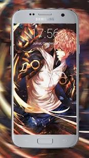 Saitama Anime Puch Lock Screen - náhled