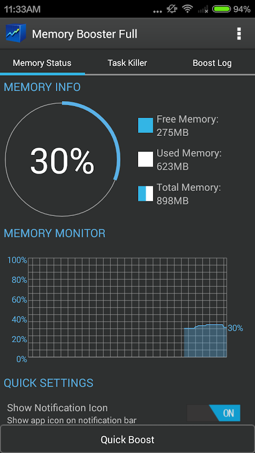 Memory Booster - RAM Optimizer- screenshot