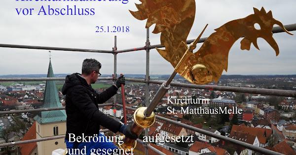 Kirchturm St.Matthäus - Bekrönung aufgesetzt