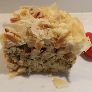 Chicken, Almond and Feta Filo Pie