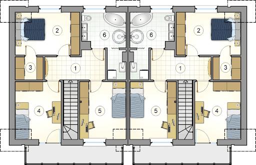 Double House III - Rzut poddasza