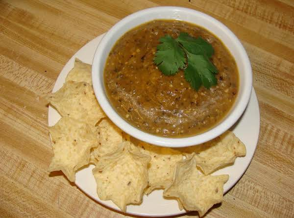 Very Flavorful Salsa For Chips Or As A Sauce Over Grilled Pork Or Chicken.