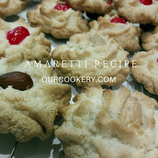 Simple Four Ingredient Amaretti Cookie.