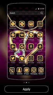 Diamond Love Theme Luxury Gold - screenshot