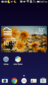 Sunny daily weather forecast screenshot 1