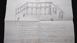 Documento con el croquis del Patio de Honor del Castillo, difundido por la Junta.