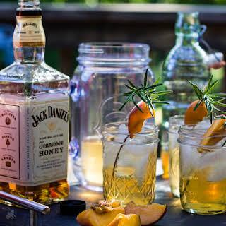 Rosemary Peach Whiskey.