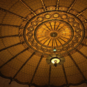Offset by John  Pemberton - Buildings & Architecture Architectural Detail ( indiana, memorial, ceiling, architecture, golden )