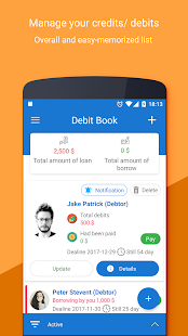 Debt Book - Debt Manager - náhled