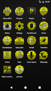 Yellow Icon Pack v4.0 - náhled