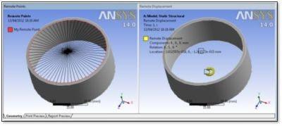 ANSYS Модель в модуле Mechanical среды Workbench (пример для демонстрации измерения угла поворота)