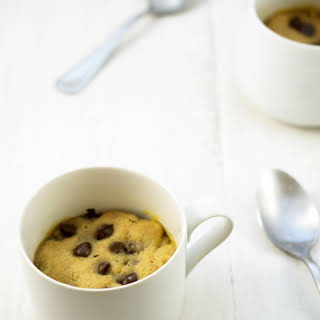 Peanut Butter and Chocolate Chip Mug Cookie.
